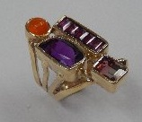 fire opal ameth pink and bi color tourmalines 3 sm